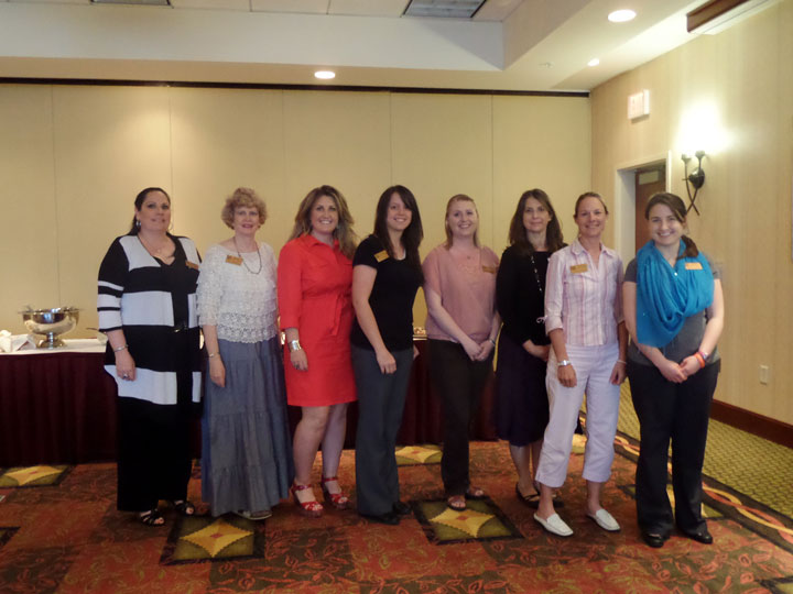 Club Officers (l to r): Karol Hodges, Beth Robertson, Effie Bader, Amber Zmolek, Tasha Bauman, Wendy King, Johnna French and Jennica Fournier