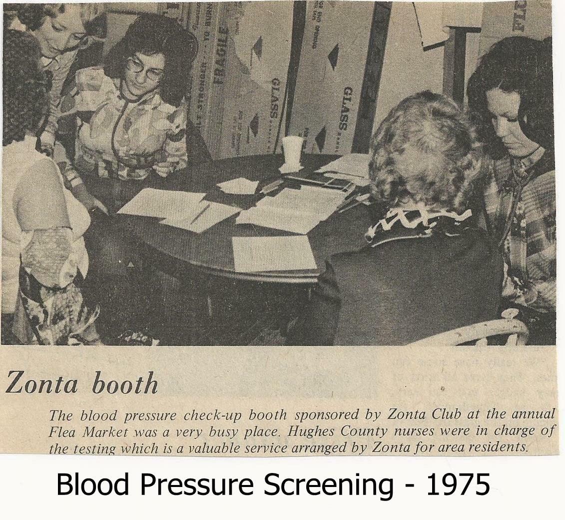 Blood Pressure Screening 1975 with Tag