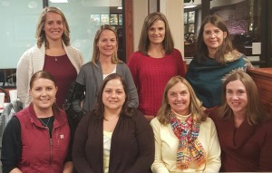 2015-16 Club Officers Bottom (l to r) Tasha Bauman, Martha Reisch, Deedee Boysen and Becky Kosach. Top (l to r) Amanda Blackmon, Johnna French, Robynn Levene and Wendy King.
