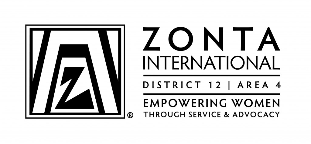 Zonta District12_Area4_Logo_Horizontal_BW