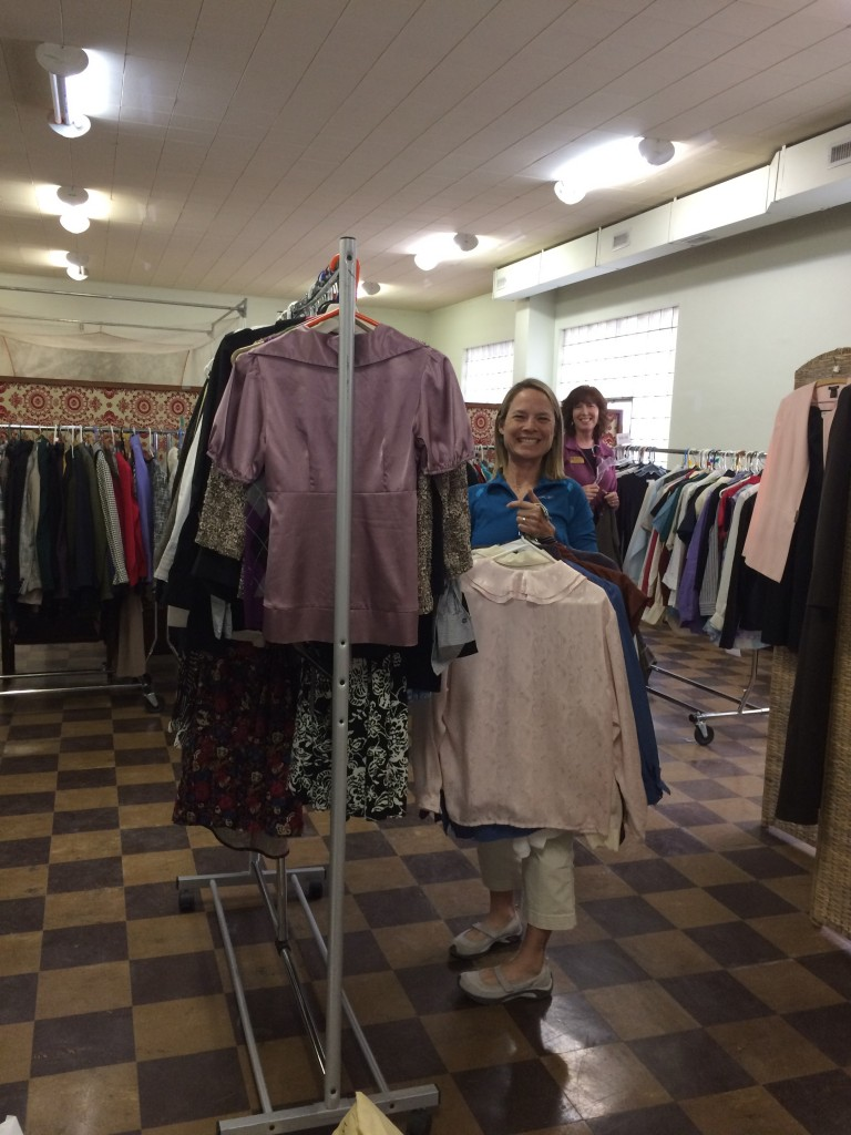 Members organizing the Suited for Success clothing collection, March 23, 2017