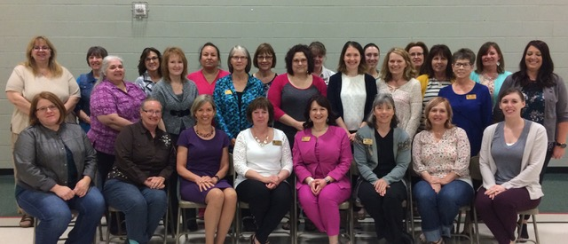 Zonta members and Grant Recipients