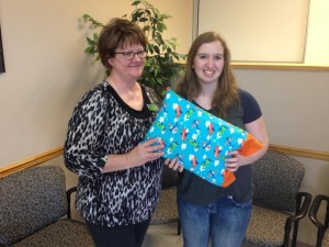 We provide material and purchase pillows for those in foster care. 4-H members sew the pillowcases.